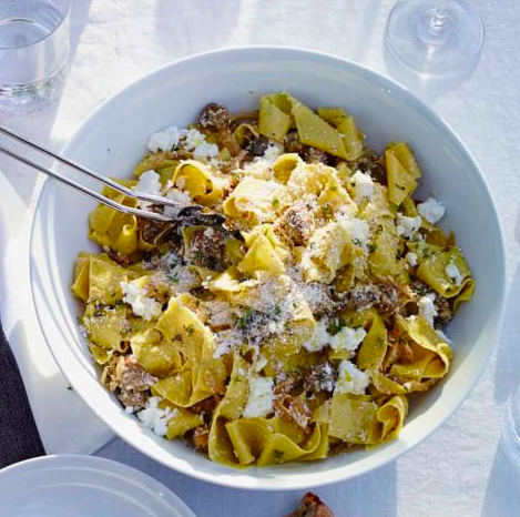Pappardelle with sausage ragu recipe