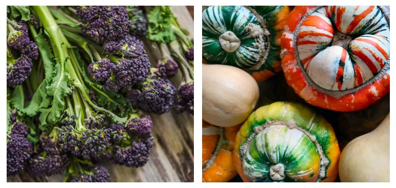 Purple sprouting broccoli & roast turks turban recipes